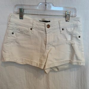 Abercrombie and Fitch White Jean Shorts